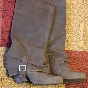 Naughty Monkey Slouch Suede Leather Boots Size 7